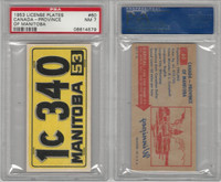 1953 Topps, License Plates Cards, #60 Canada-Province Manitoba, PSA 6 EXMT