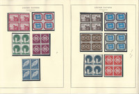 United Nations Stamp Collection 24 Scott Specialty Pages, 1951-63 Blocks, JFZ