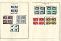 United Nations Stamp Collection 24 Scott Specialty Pages, 1964-70 Blocks, JFZ
