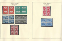 United Nations Stamp Collection 6 Scott Specialty Pages, Airmail Blocks, JFZ