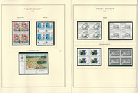 United Nations Stamp Collection 40 Scott Specialty Pages, 1986-95 Blocks, JFZ