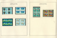 United Nations Stamp Collection 22 Scott Specialty Pages, 1979-87 Blocks, JFZ