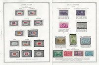 United States Stamp Collection 24 Scott Pages, Mint NH, 1943-1960, JFZ