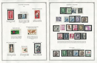 United States Stamp Collection 24 Scott Pages, Mint NH, 1960-1971, JFZ