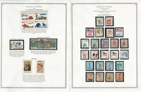 United States Stamp Collection 24 Scott Pages, Mint NH, 1971-1976, JFZ
