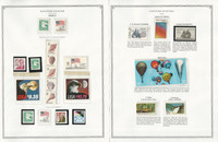 United States Stamp Collection 24 Scott Pages, Mint NH, 1982-1986, JFZ