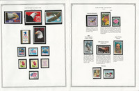 United States Stamp Collection 24 Scott Pages, Mint NH, 1986-1990, JFZ
