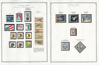 United States Stamp Collection 24 Scott Pages, Mint NH, 1990-1993, JFZ