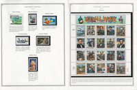 United States Stamp Collection 24 Scott Pages, Mint NH, 1995-1997, JFZ