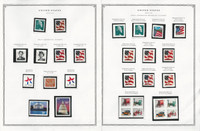 United States Stamp Collection 24 Scott Pages, Mint NH, 2001-2002, JFZ