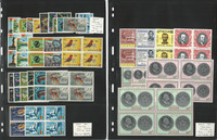 Ghana Stamp Collection, #208-226, C7-C8 Mint NH Blocks, 1965-66, JFZ