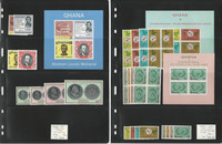 Ghana Stamp Collection, #200-215 Mint NH, 1965, Lincoln, JFZ