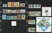 Ghana Stamp Collection, #311-22, 356-70 Mint NH, 1964-9, Birds, Animals, JFZ
