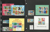 Ghana Stamp Collection, #286//355a Mint NH, 1967-69, 4 Pages, JFZ