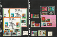 Ghana Stamp Collection, #375//405 Mint NH, 1970 Space Moon, JFZ