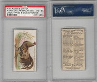 N20 Allen & Ginter, Prize & Game Chickens, 1892, Ayam Jallak Malay, PSA 4 VGEX