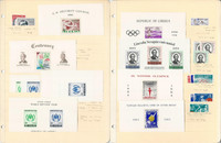 Liberia Stamp Collection, 1960-1962 Mint NH, 4 Pages, Sheets, Error, JFZ
