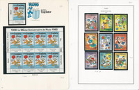 Togo Stamp Collection, 1984-86 Mint NH, 5 Pages, Disney, JFZ