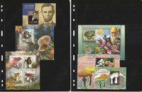Togo Stamp Collection, 2 Pages, Mushrooms, Lincoln Mint NH, JFZ