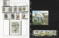 Togo Stamp Collection on 6 Pages Mint NH, Birds Animals, JFZ