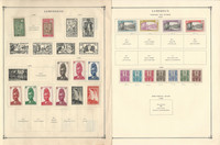 Cameroun Stamp Collection on 16 Scott & Harris Pages, 1900-1971, JFZ