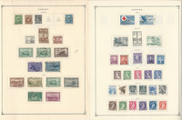 Canada Stamp Collection on 8 Scott International Pages, 1942-1955, JFZ