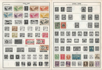 Canal Zone Stamp Collection on 12 Scott & Harris Pages, 1928-1971, JFZ