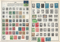 Caribbean Island Stamp Collection on 16 Harris Pages, 1857-1961, JFZ