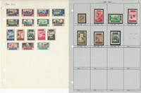 Cape Juby Stamp Collection on 9 Pages, 1919-1948 Spanish Colony, JFZ