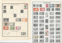 Cayman Island Stamp Collection on 8 Harris Pages, 1900-1972, JFZ