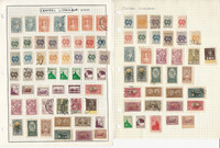 Central Lithuania Stamp Collection on 6 Scott & Harris Pages, 1900-1972, JFZ