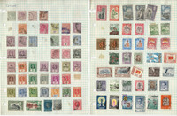 Ceylon Stamp Collection on 6 Loaded Pages 1888-1970, JFZ
