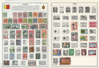 Ceylon Stamp Collection on 10 Harris Pages 1872-1971, JFZ
