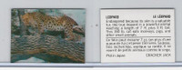 F Card, Cracker Jack, Endangered Species 3D, 1973, Leopard