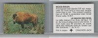 F Card, Cracker Jack, Endangered Species 3D, 1973, Wood Bison