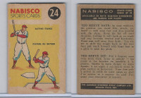 FC26-3 Nabisco, Sports Cards Ted Reeves Says, 1953, #24 Baseball