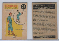 FC26-3 Nabisco, Sports Cards Ted Reeves Says, 1953, #27 Baseball