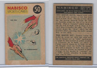 FC26-3 Nabisco, Sports Cards Ted Reeves Says, 1953, #50 Table Tennis