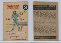 FC26-3 Nabisco, Sports Cards Ted Reeves Says, 1953, #51 Table Tennis