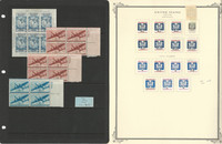 United States Stamp Collection on 3 Pages, Airmail & Officials, JFZ