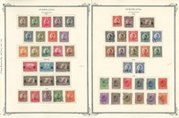 Yugoslavia Stamp Collection on 21 Scott International Pages, 1921-1954, JFZ