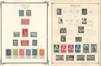 Yugoslavia Stamp Collection on 38 Scott International Pages, Back Book, JFZ