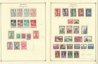 Belgium Stamp Collection on 35 Scott International Pages, Semi's 1910-75, JFZ