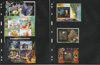 Central Africa Rep Stamp Collection on 2 Pages, Disney, Soccer Mint NH, JFZ