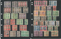 Dahomey Stamp Collection on 5 Pages, Early French Colony Stock, JFZ