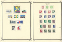 Denmark Stamp Collection on 10 Scott Specialty Pages, 1984-1989, JFZ