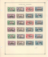 Falkland Island Dependencies Stamp Collection on 2 Scott International Pgs, JFZ