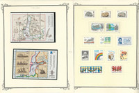 Finland Stamp Collection on 16 Scott Specialty Pages, 1980-1992, JFZ