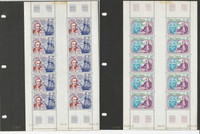 French Polynesia Stamp Collection, C154-C155 Mint NH Sheets, Capt Cook, JFZ