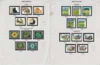 Great Britain Stamp Collection on 6 Pages, 1994-1998 Mint NH Sets, JFZ